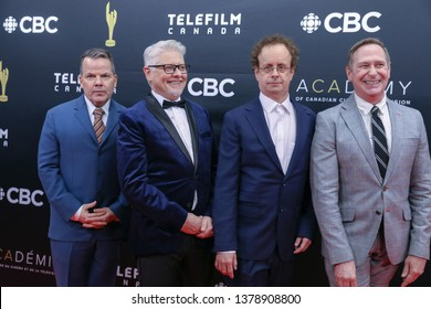 TORONTO, CANADA - MARCH 31, 2019: KIDS IN THE HALL Bruce McCulloch, Dave Foley, Kevin McDonald and Scott Thompson at 2019 Canadian Screen Awards.