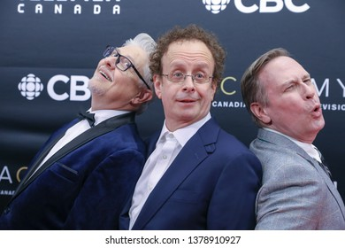 TORONTO, CANADA - MARCH 31, 2019: KIDS IN THE HALL Dave Foley, Kevin McDonald and Scott Thompson at 2019 Canadian Screen Awards.