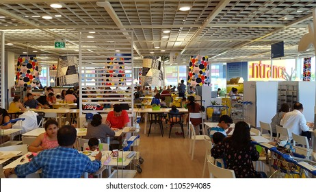 TORONTO, CANADA - MAY 27, 2108: Cafeteria area at a IKEA store in Toronto.