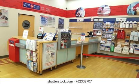 TORONTO, CANADA - NOVEMBER 17, 2017: A Canada Post location in Toronto, Canada.