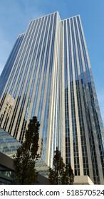 TORONTO, CANADA - NOVEMBER 18, 2016: A modern skyscraper in Downtown Toronto financial district, Canada.