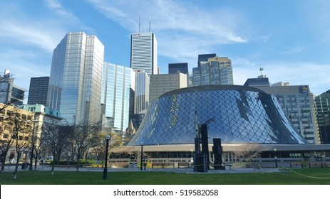 TORONTO, CANADA - NOVEMBER 18, 2016: Downtown financial district buildings in Toronto, Canada.