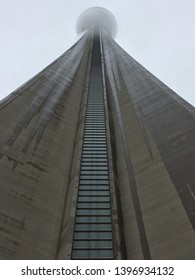 Toronto, Canada - NOVEMBER 24, 2016: The CN Tower on a cloudy winter day