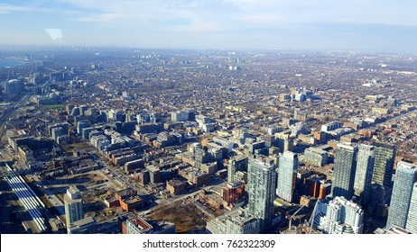 TORONTO, CANADA - NOVEMBER 24, 2017: A panoramic view of Downtown Toronto.