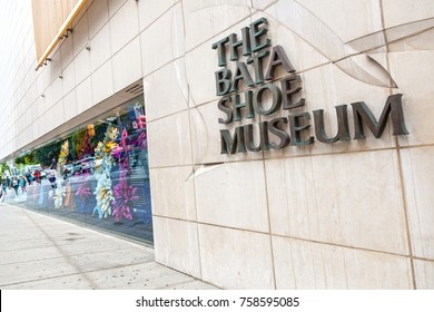 Toronto, Canada - Oct 17, 2017: Exterior of the Bata Shoe Museum in the city of Toronto, Canada