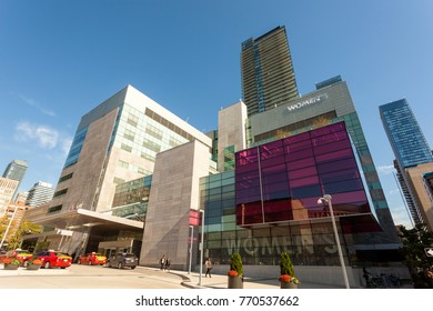 Toronto, Canada - Oct 19, 2017: The Women's College Hospital and medical centre in the city of Toronto. Province of Ontario, Canada