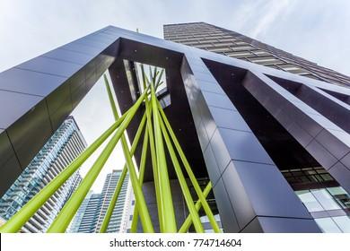 Toronto, Canada - Oct 21, 2017: Contemporary architecture in the city of Toronto, Canada