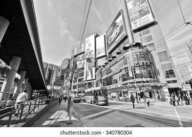 Toronto, Canada - October 15, 2013: View of Yonge-Dundas Square in a sunny day in Toronto on October 15, 2013.