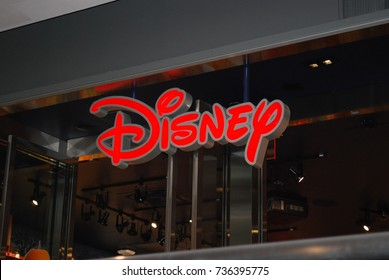 TORONTO, CANADA - October 16, 2017: Disney Store In Eaton Centre, Shopping Mall In Downtown Toronto. Disney Store Offers Toys For Kids And Children From Walt Disney Movies / Films / Characters