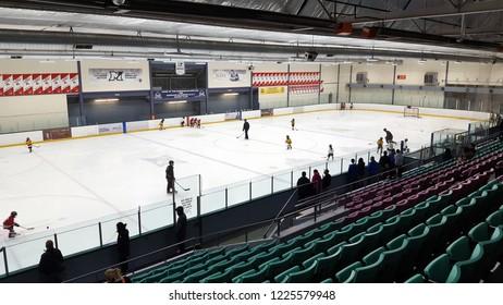 TORONTO, CANADA - OCTOBER 19, 2018: A hockey arena in Toronto, Canada.