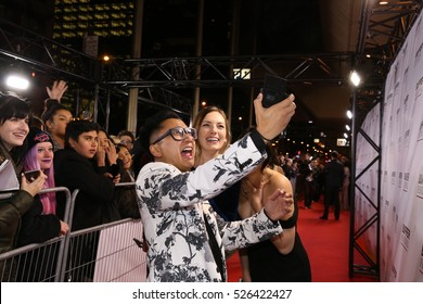 TORONTO, CANADA - OCTOBER 21, 2016: YouTube personality GUNNAROLLA attends opening night of BUFFER FESTIVAL, a showcase of YouTube video premieres.