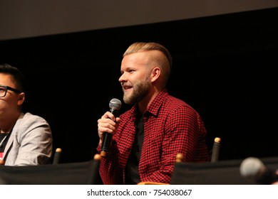 TORONTO, CANADA - OCTOBER 21, 2016: YOU TUBE STARS ON STAGE AT BUFFER FESTIVAL.
