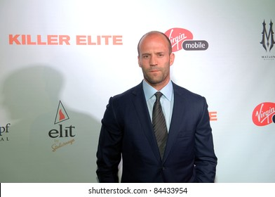 "TORONTO, CANADA – SEPT 10:  Jason Statham arrives at the ""Killer Elite"" reception after the movie premiere at the Toronto International Film Festival September 10, 2011 Toronto, Ontario."