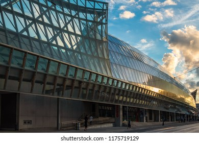 TORONTO, CANADA - SEPTEMBER 03, 2018: Art Gallery of Ontario in Downtown Toronto at sunset