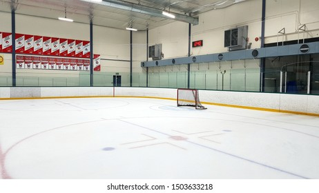 TORONTO, CANADA - SEPTEMBER 8, 2019: A hockey arena in Toronto, Canada.