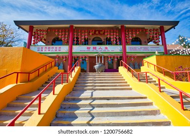 Toronto, Canada-10 October, 2018: Scenic Buddhist Cham Shan Temple on Bayview Avenue