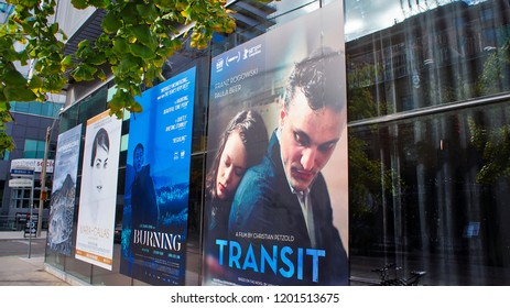 Toronto, Canada-12 October, 2018: TIFF (International Film Festival). Founded in 1976, TIFF is now one of the largest and most prestigious events of its kind in the world.