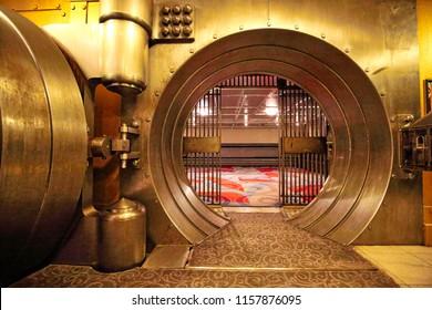 Toronto, Canada-June 6, 2017: The Vault, a famous bank safe exhibit