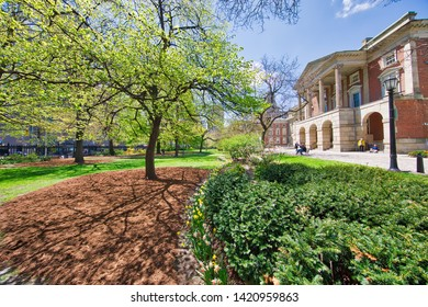 Toronto, Canada-May 20, 2019: Osgoode Hall that houses the Ontario Court of Appeal, the Divisional Court of the Superior Court of Justice, the offices of the Law Society of Ontario