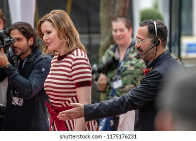 Toronto, Canada-September 8, 2018: Geena Davis. Celebrities attending this year TIFF. The Festival is one of the largest publicly attended film festivals in the world