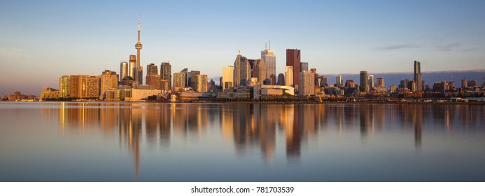 Toronto city skyline from Lake Ontario