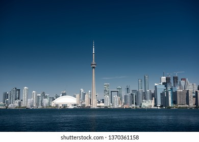 Toronto city skyline on a clear sunny day. Ontario, Canada