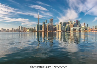 Toronto city skyline on sunny day, Toronto, Ontario, Canada.