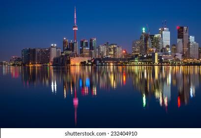 Toronto City Skyline Reflection