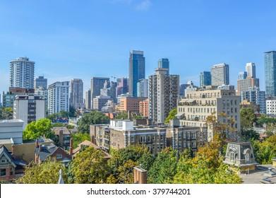 Toronto condo buildings.