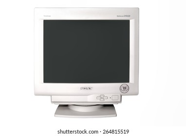 TORONTO - DEC 22: Sony CRT Multiscan 210GS monitor in Trinitron series, isolated on white background, and photographed in Toronto on Dec. 22, 2007.