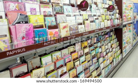 Toronto december 14 greeting cards store stock photo edit now toronto december 14 greeting cards in a store on december 14 2013 in m4hsunfo