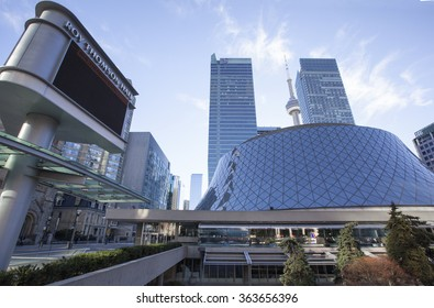 TORONTO - DECEMBER 24, 2015: Roy Thomson Hall is a concert hall in Toronto, Ontario, Canada. Located downtown in the city's entertainment district, it is home to the Toronto Symphony Orchestra.