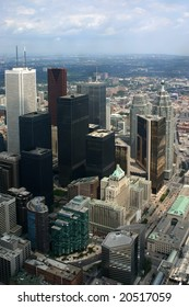 Toronto downtown aerial view