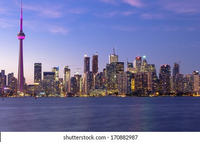 Toronto Downtown Cityscape at Dusk