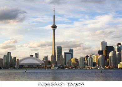 Toronto early evening cityscape. Photo was  taken from Central Island.