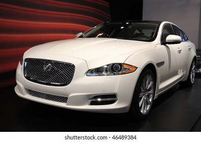 TORONTO - FEBRUARY 11: Jaguar XJ is shown at the 2010 Canadian International Auto Show on February 11, 2010 in Toronto.