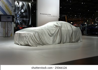 TORONTO, FEBRUARY 11: the new BMW Z4 waiting to be unveiled at the Canadian International AutoShow 2009, one of 11 Canadian car premieres at CIAS2009