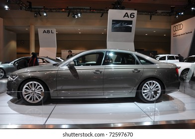 TORONTO - FEBRUARY 24: Audi A6 on display at the 2011 Canadian International Auto Show on February 24, 2011 in Toronto, Ontario, Canada