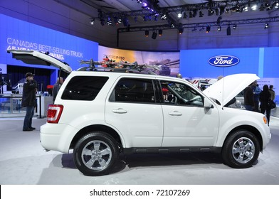TORONTO - FEBRUARY 24: Ford Escape at the 2011 Canadian International Auto Show on February 24, 2011 in Toronto, Ontario in Canada