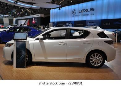 TORONTO - FEBRUARY 24: Lexus exhibit at the 2011 Canadian International Auto Show on February 24, 2011 in Toronto