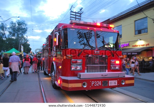 Toronto Fire Truck July 27 2018 Stock Photo (Edit Now