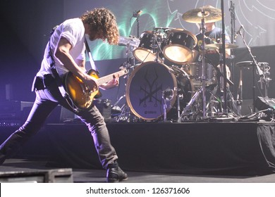 TORONTO - JANUARY 25:  Chris Cornell and Soundgarden Perform at the Sound Academy on  January 25, 2013 in Toronto.