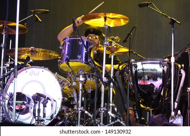 TORONTO - July 23, 2013: Jason Bonham of Led Zeppelin Experience performs in Toronto at the Molson Ampitheatre, July 23, 2013.