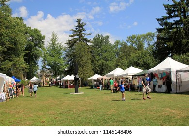 TORONTO – July 29, 2018: The Guild alive with culture arts festival in Toronto in July 28 – 29, 2018, Canada