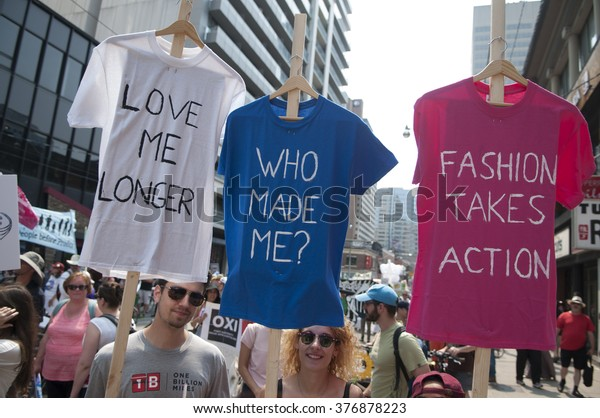 Toronto July 5 Couple Tshirts Asking Stock Photo Edit Now 376878223