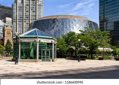 Toronto - June 10, 2018: Roy Thomson Hall is a concert hall located downtown in the city's entertainment district and home of the Symphonic Orchestra.