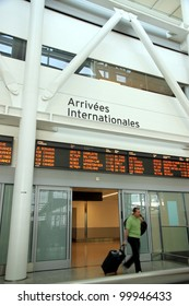 TORONTO - JUNE 10: International arrivals gate at Toronto Pearson Airport on June 10, 2011 in Toronto. In 2011, Toronto Pearson handled 33.4 million passengers and 428,477 aircraft movements.
