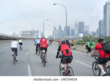 TORONTO - JUNE 2 2013 - Ride for Heart annual health awareness event  raising record $5.5 million for Heart&Stroke Foundation.