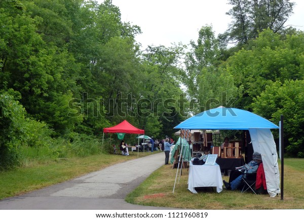 TORONTO – JUNE 23, 2018: Art Show and Sale Birkdale Art in the Park in June 23, 2018 in Toronto, Canada