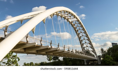 TORONTO - JUNE 7: The Humber Bay Arch Bridge (also known as the Humber River Arch Bridge, the Humber River Pedestrian Bridge) on June 7, 2016, Toronto, Canada